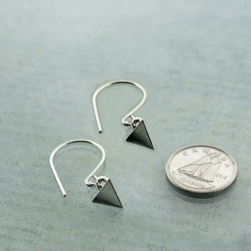 Tetrahedron earrings Sterling Silver