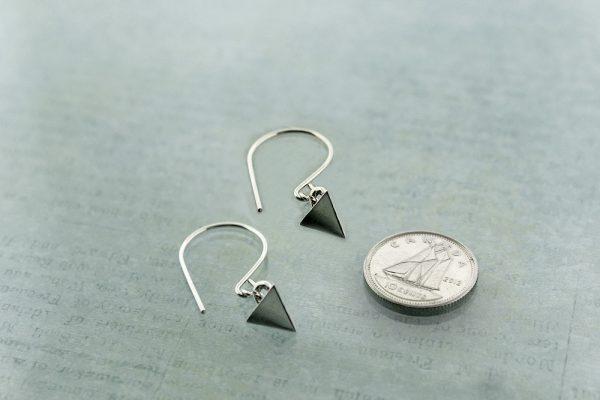 Tetrahedron earrings Sterling Silver