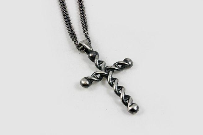 Cross Antique Silver DNA design