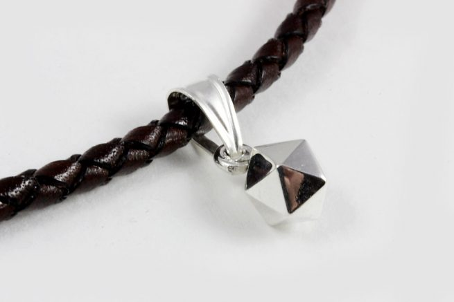 Icosahedron Pendant Sterling silver