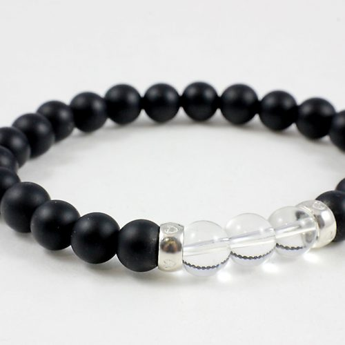 Onyx and Crystal Bracelet