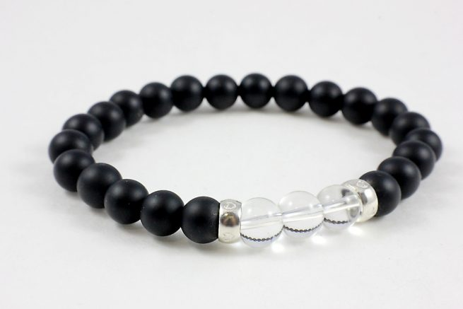 Onyx and Crystal Bracelet