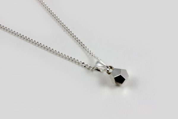 dodecahedron pendant sterling silver
